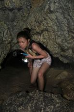 fighting claustrophobia by entering caves